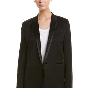 The Kooples smoking jacket with lace lapel